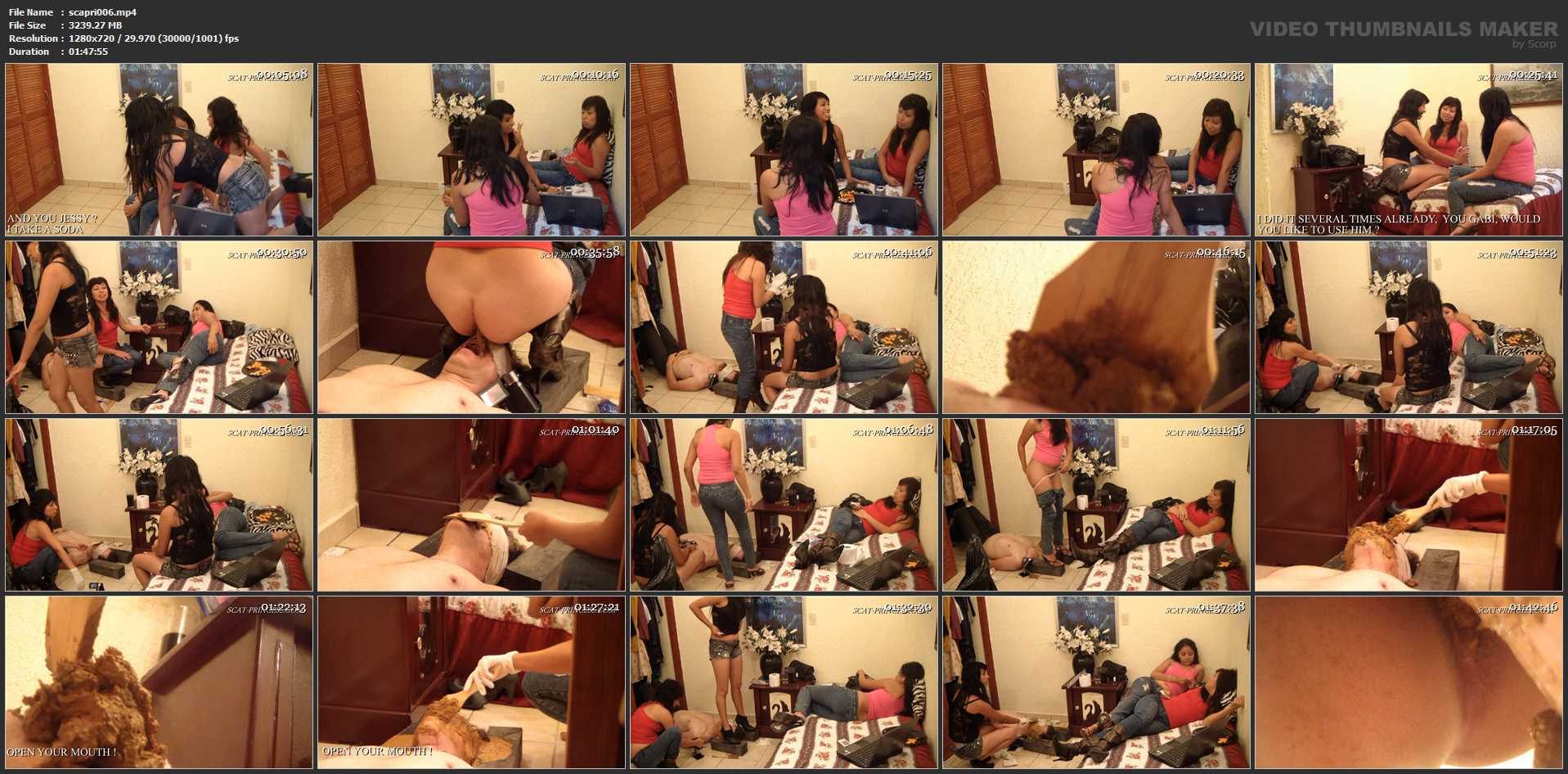 [DOM-PRINCESS / SCAT-PRINCESS] Toilet Slave Come Out of My Closet Jessy, Gabi, Nataly [HD][720p][MP4]