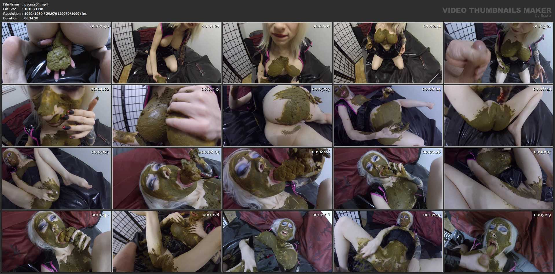 [SCATSHOP / PVC AND SCAT COUPLE] SMOTHERED and STUFFED with poop, then fucked DEEP and HARD. Featuring: Jessica Stinky [FULL HD][1080p][MP4]