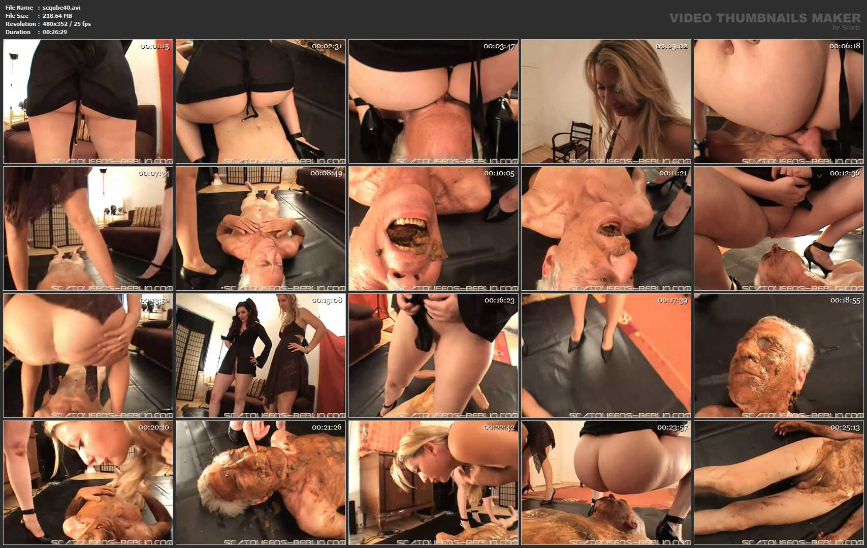 [SCATQUEENS-BERLIN] Lisa Anderson First Time Scat [LQ][352p][AVI]
