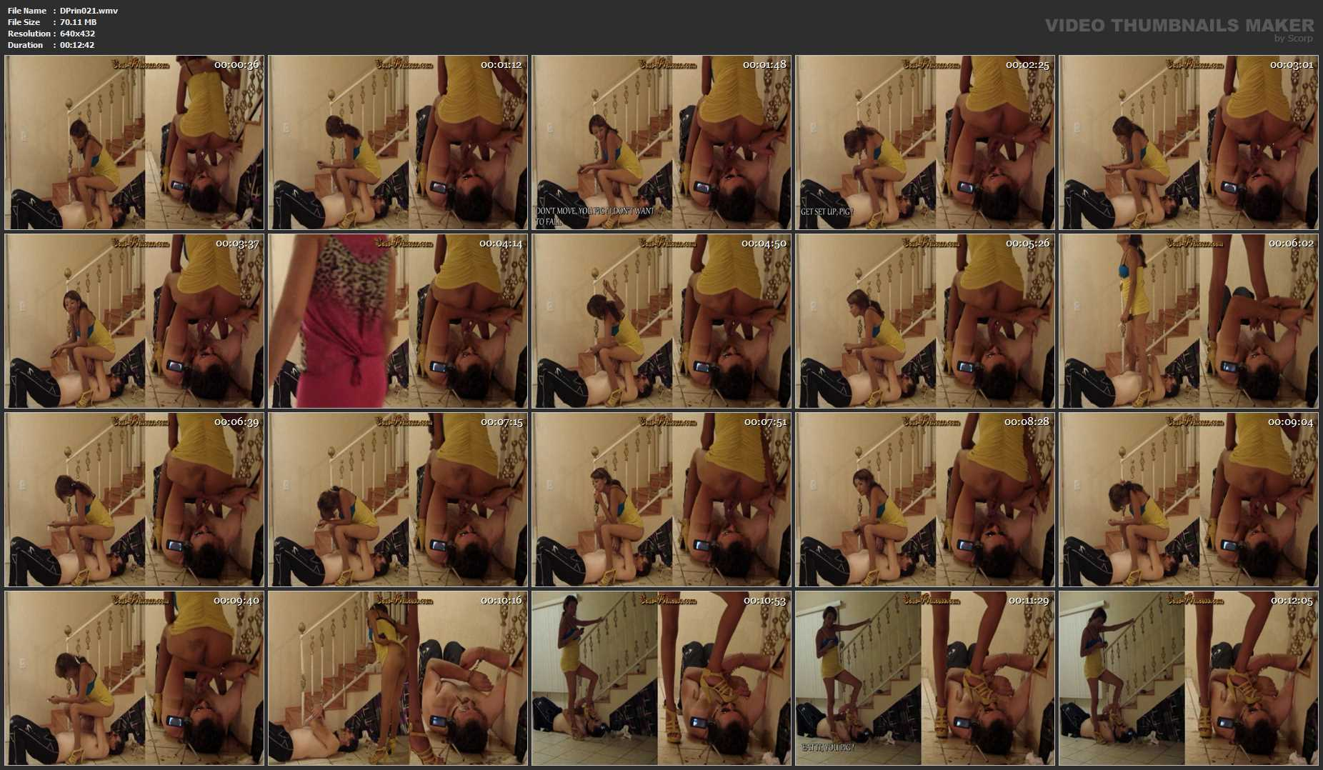[DOM-PRINCESS] Shiteater handcuffed to the Stairway Part 7 Britany [SD][432p][WMV]