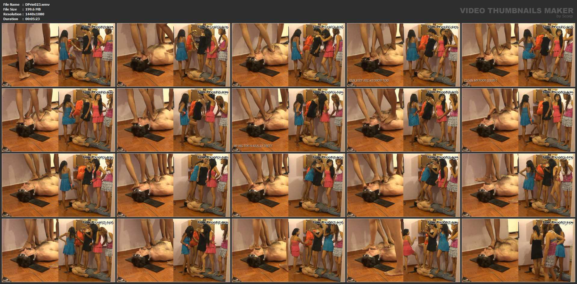 [DOM-PRINCESS] The Stand on Poop Session Part 1 [FULL HD][1080p][WMV]