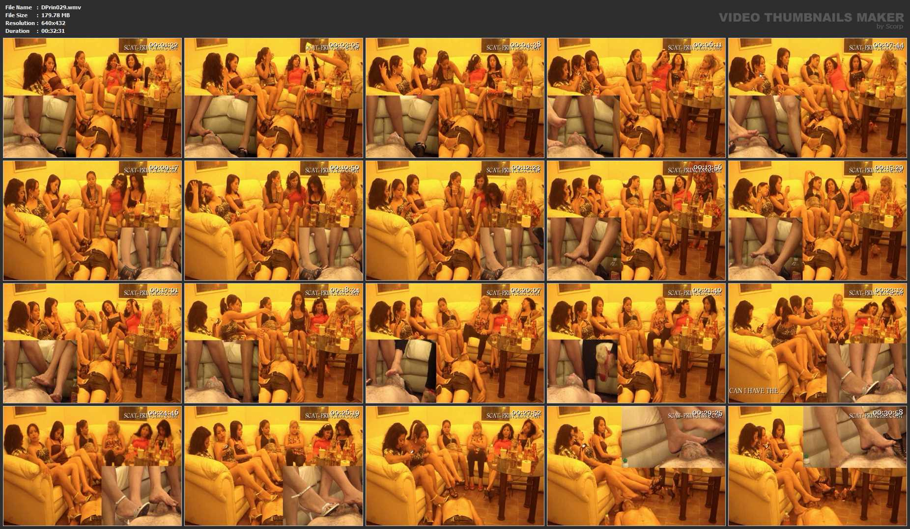 [DOM-PRINCESS] Facesitting and Shiting Party Part 1 [SD][432p][WMV]