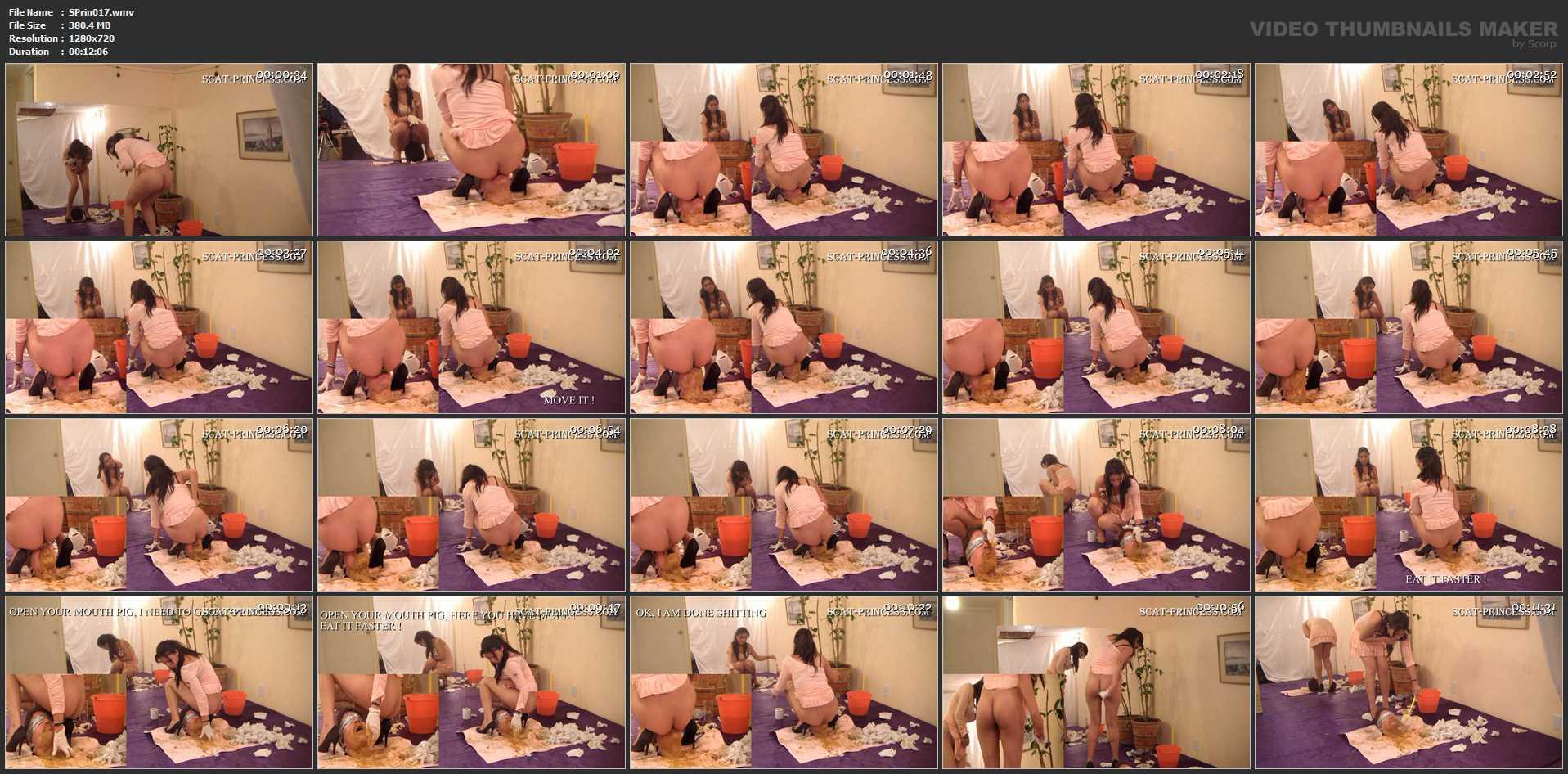 [SCAT-PRINCESS] How many Girls can a Toilet Slave take Part 12 Adison [HD][720p][WMV]