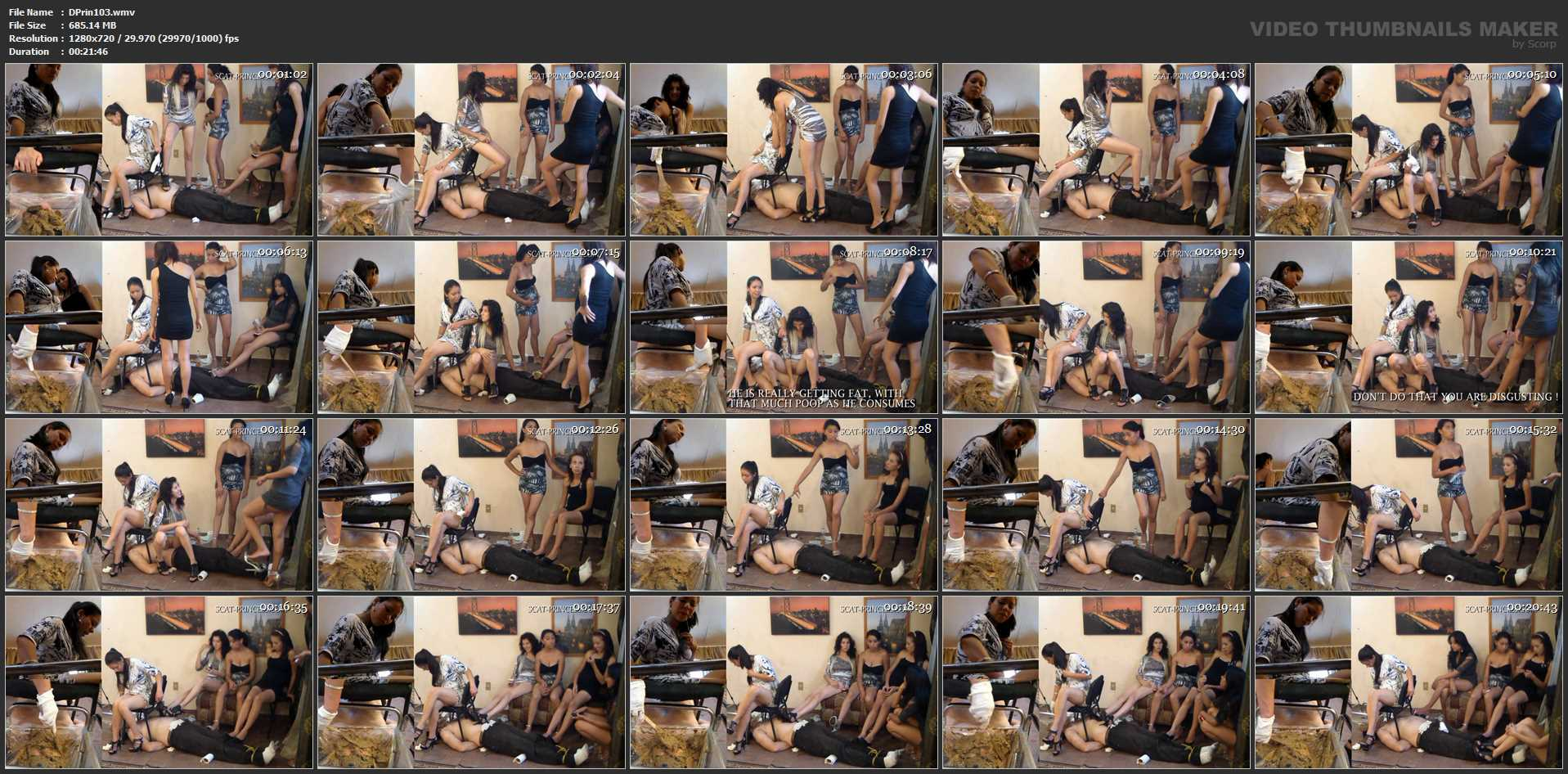 [DOM-PRINCESS] When Shit Piles up on his Face, this is what happens Part 7 The Feeding [HD][720p][WMV]