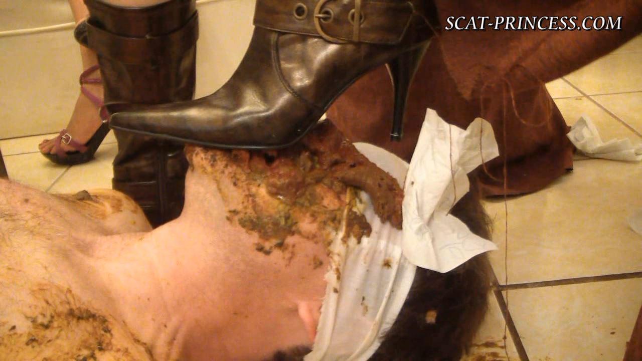 [SCAT-PRINCESS] A Toiletslaves know what to do SC Subt [HD][720p][WMV]