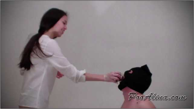 [SCAT FEMDOM MEDLEY] Alina pooping in mouth of a toilet slave [LQ][360p][MP4]