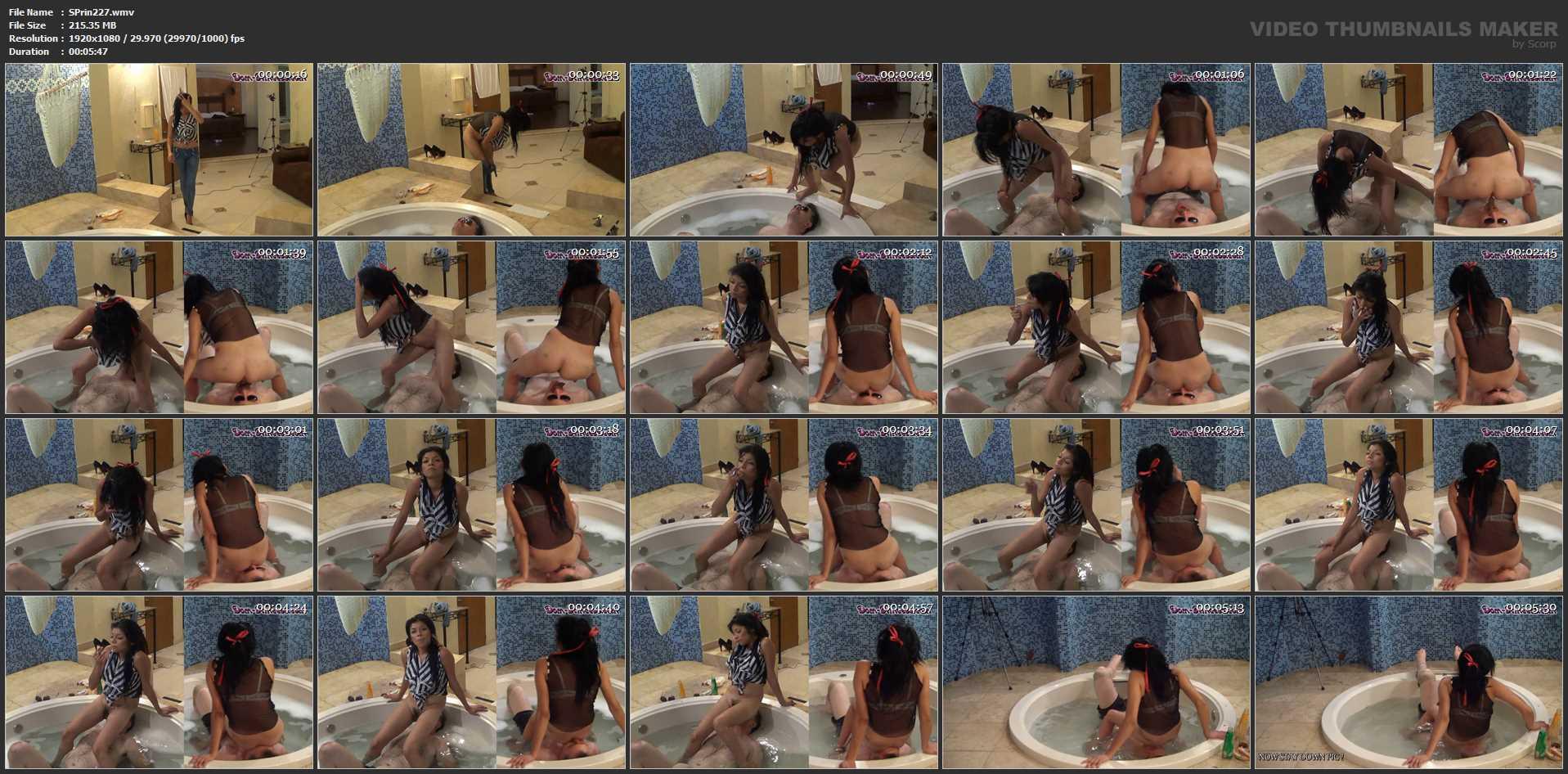[SCAT-PRINCESS] Jacuzzi Poop Eating Show Part 2 Zamatha [FULL HD][1080p][WMV]