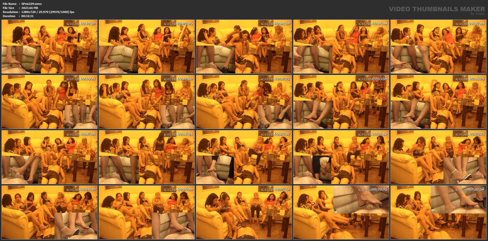 [SCAT-PRINCESS] Facesitting and Shitting Party Part 1 [HD][720p][WMV]