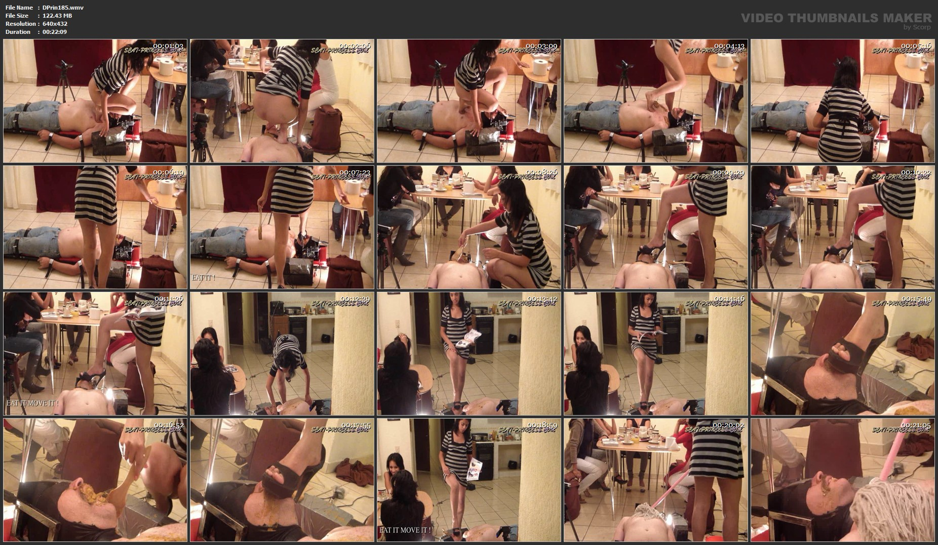 [DOM-PRINCESS] Toilet Slave rolling under the Table Part 2 Diana [SD][432p][WMV]