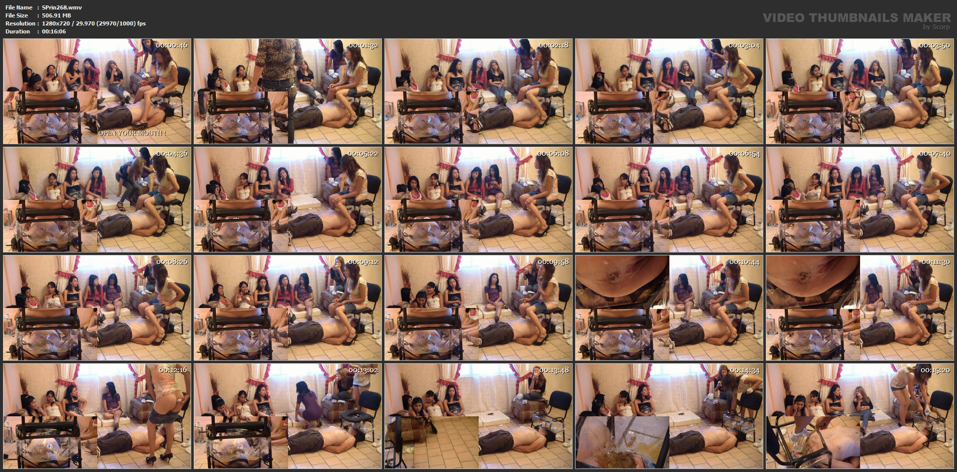 [SCAT-PRINCESS] New irristible Toilet Chair Part 04 Christina [HD][720p][WMV]