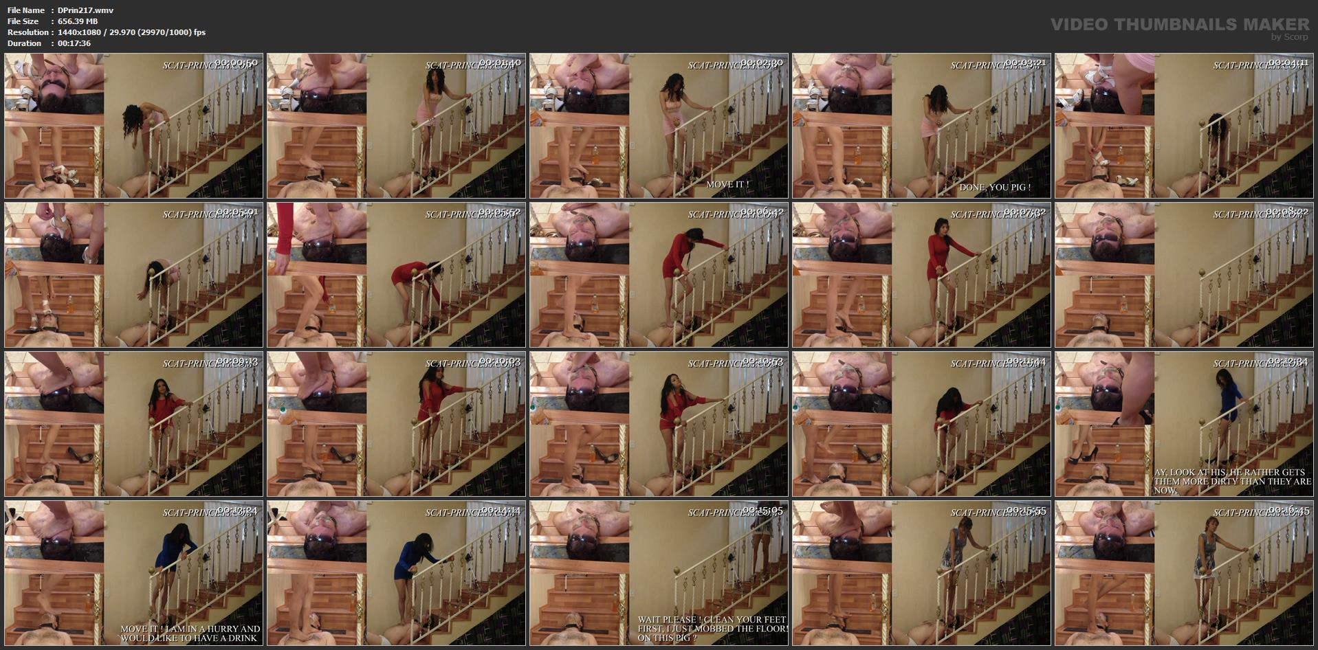 [DOM-PRINCESS] Toilet Man Abuse in the Kitchen Part 1 [FULL HD][1080p][WMV]