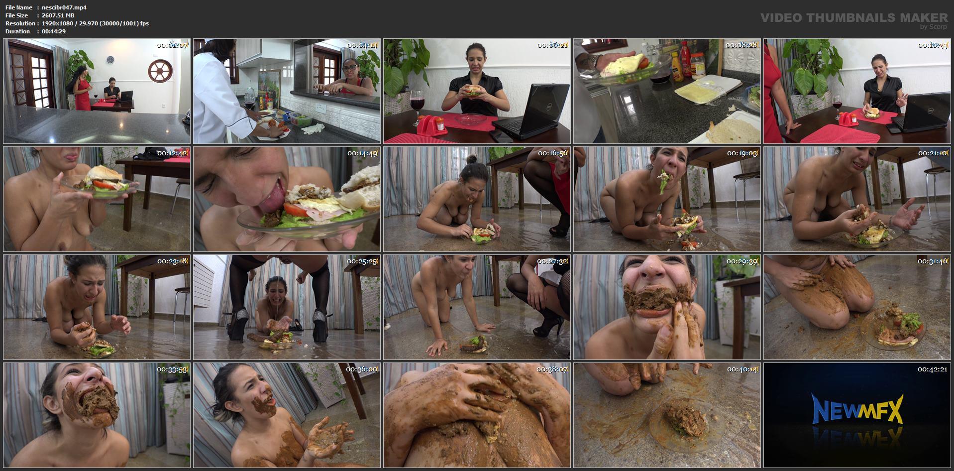 [NEW SCAT IN BRAZIL / NEWMFX] SHIT SANDWICH. Featuring: Alana, Bianca Santos, Saori Kido [FULL HD][1080p][MP4]