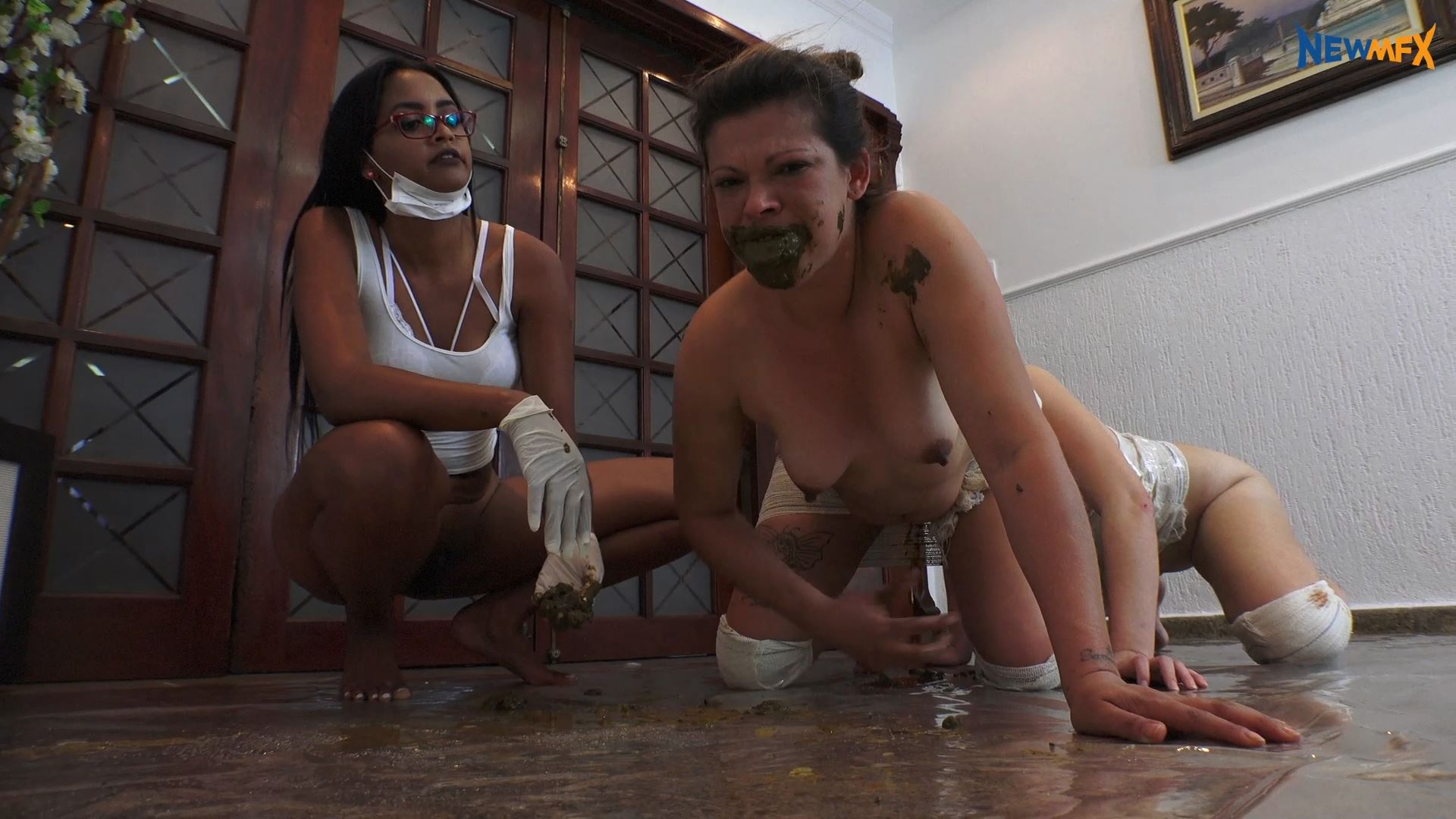 [NEW SCAT IN BRAZIL / NEWMFX] HUMAN CENTIPEDE - THE EXPERIENCE. Featuring: Diana, Bruna, Isa Blue [FULL HD][1080p][MP4]