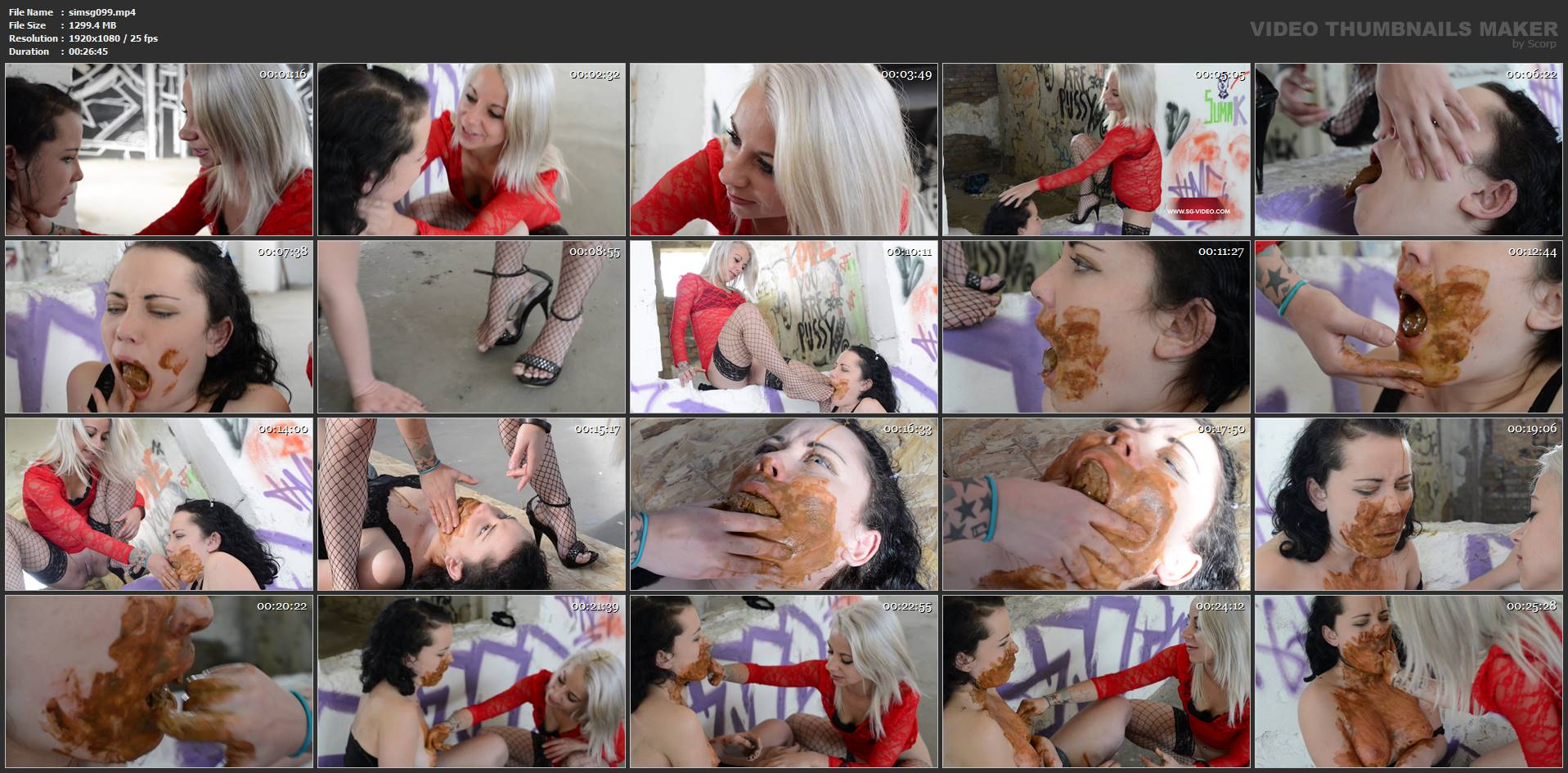 [SCAT INTO MOUSE / SG-VIDEO] Eat My Scat Fucking Bitch By Kamila White (BIG SCAT) [FULL HD][1080p][MP4]