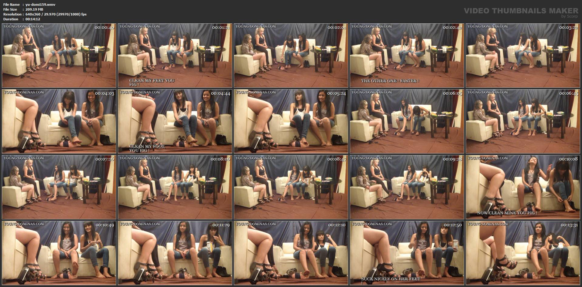 [YOUNG-DOMINAS] Poop Eater In Floor Integrated Part 2 [LQ][360p][WMV]