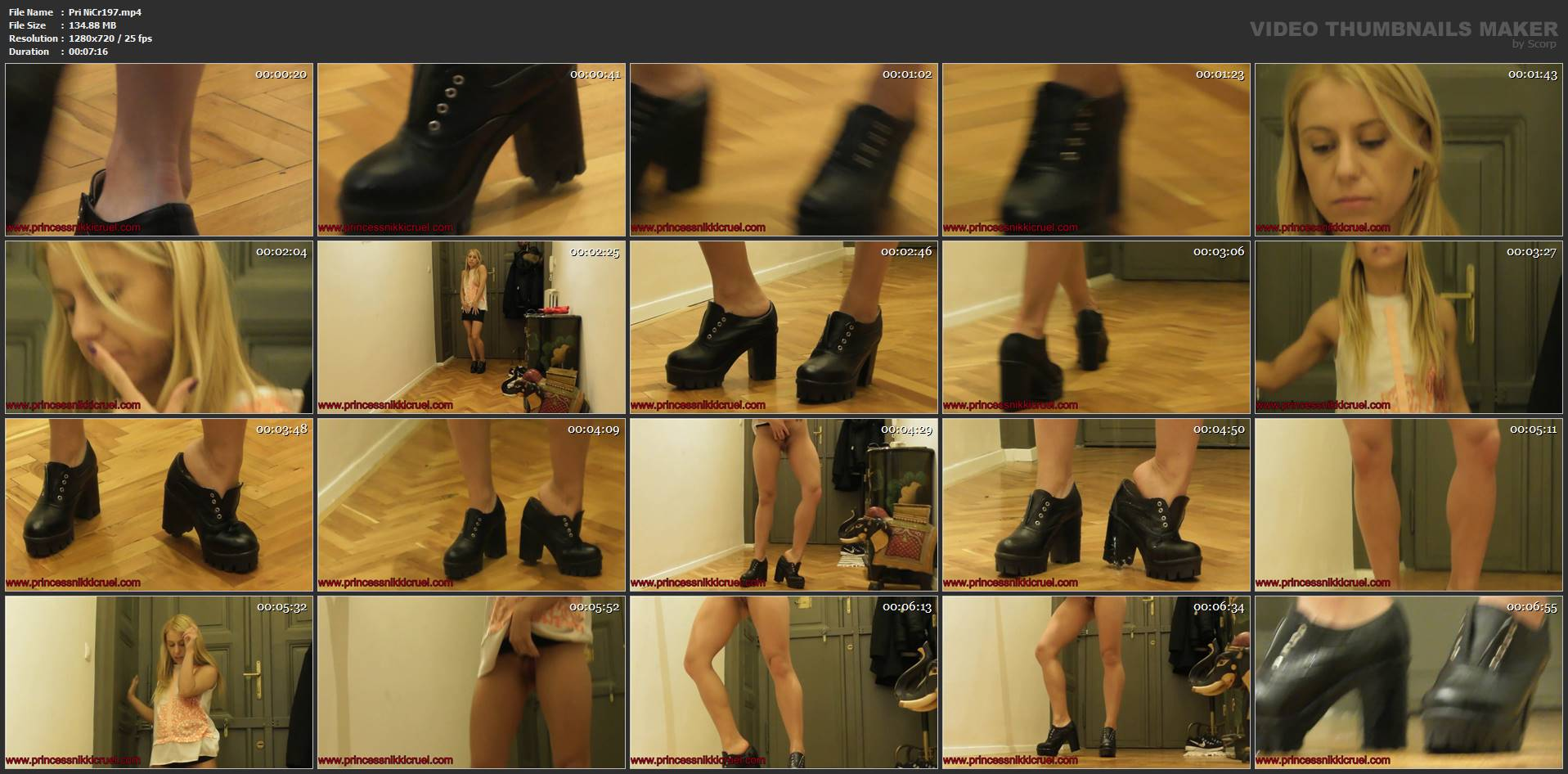 [PRINCESS NIKKI'S EMPIRE] Watch Me As I Pee In My Shoes Second Cam. Featuring: Nikki Cruel [HD][720p][MP4]